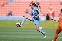 Houston, TX - Saturday May 13, 2017: Sky Blue FC midfielder Sarah Killion (16) during a regular season National Women's Soccer League (NWSL) match between the Houston Dash and Sky Blue FC at BBVA Compass Stadium. Sky Blue won the game 3-1.