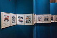 """Beethoven-Ausstellung """"Diesen Kuss der ganzen Welt!"""" in der Staatsbibliothek zu Berlin.<br /> Im Haus Unter den Linden wird eine der weltweit bedeutendsten Sammlungen von Notenhandschriften Ludwig van Beethovens und Autographen vom 11. Maerz bis 30. April 2020 gezeigt.<br /> Im Bild: Ein Ausstellungsteil mit einem Comik zu Beethoven, """"Die neue Musik"""".<br /> 10.3.2020, Berlin<br /> Copyright: Christian-Ditsch.de<br /> [NUR FUER REDAKTIONELLE ZWECKE! Werbung nur auf Anfrage beim Fotografen. Inhaltsveraendernde Manipulation des Fotos nur nach ausdruecklicher Genehmigung des Fotografen. Vereinbarungen ueber Abtretung von Persoenlichkeitsrechten/Model Release der abgebildeten Person/Personen liegen nicht vor. NO MODEL RELEASE! Don't publish without copyright Christian-Ditsch.de, Veroeffentlichung nur mit Fotografennennung, sowie gegen Honorar, MwSt. und Beleg. Konto: I N G - D i B a, IBAN DE58500105175400192269, BIC INGDDEFFXXX, Kontakt: post@christian-ditsch.de<br /> Bei der Bearbeitung der Dateiinformationen darf die Urheberkennzeichnung in den EXIF- und  IPTC-Daten nicht entfernt werden, diese sind in digitalen Medien nach §95c UrhG rechtlich geschuetzt. Der Urhebervermerk wird gemaess §13 UrhG verlangt.]"""