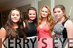 Ballylongford Social:Attending the Ballylongford GAA social at the Listowel Arms Hotel on Saturday night last were Grace Ryan, Eimear Walsh, Katie Doyle & Megan Barry.