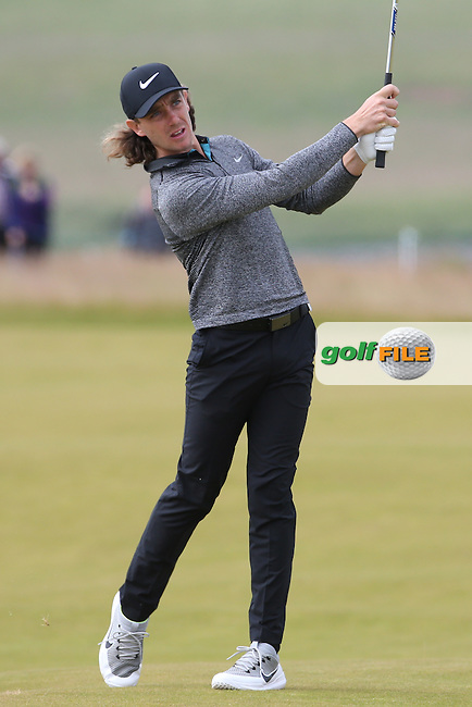 Tommy Fleetwood (ENG) during Round Three of the 2016 Aberdeen Asset Management Scottish Open, played at Castle Stuart Golf Club, Inverness, Scotland. 09/07/2016. Picture: David Lloyd | Golffile.<br /> <br /> All photos usage must carry mandatory copyright credit (&copy; Golffile | David Lloyd)