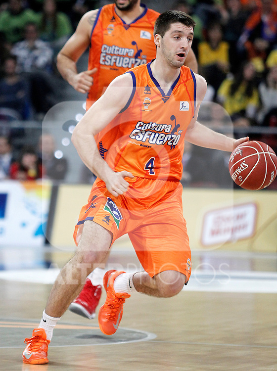 Valencia Basket Club's Stefan Markovic during Spanish Basketball King's Cup semifinal match.February 07,2013. (ALTERPHOTOS/Acero)
