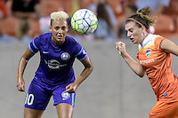 Lianne Sanderson (10) of the Orlando Pride attempts to take control of a loose ball against the Houston Dash on Friday, May 20, 2016 at BBVA Compass Stadium in Houston Texas. The Orlando Pride defeated the Houston Dash 1-0.