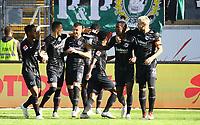 celebrate the goal, Torjubel zum 1:0 um Evan N'Dicka (Eintracht Frankfurt) - 30.09.2018: Eintracht Frankfurt vs. Hannover 96, Commerzbank Arena, DISCLAIMER: DFL regulations prohibit any use of photographs as image sequences and/or quasi-video.