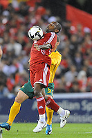 MELBOURNE, AUSTRALIA - OCTOBER 14: Hassan Rabbea from Oman blocks the ball in a AFC Asian Cup 2011 match between Australia and Oman at Etihad Stadium on October 14, 2009 in Melbourne, Australia. Photo Sydney Low www.syd-low.com