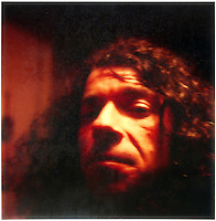 Tony Fomison, artist (1939-1990) Polaroid SX-70 photograph c.1976.