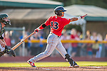 4 September 2016: Lowell Spinners designated hitter Victor Acosta in action against the Vermont Lake Monsters at Centennial Field in Burlington, Vermont. The Spinners defeated the Lake Monsters 8-3 in NY Penn League action. Mandatory Credit: Ed Wolfstein Photo *** RAW (NEF) Image File Available ***