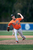 Baltimore Orioles pitcher Travis Seabrooke (88) during a Minor League Spring Training game against the Boston Red Sox on March 20, 2018 at Buck O'Neil Complex in Sarasota, Florida.  (Mike Janes/Four Seam Images)