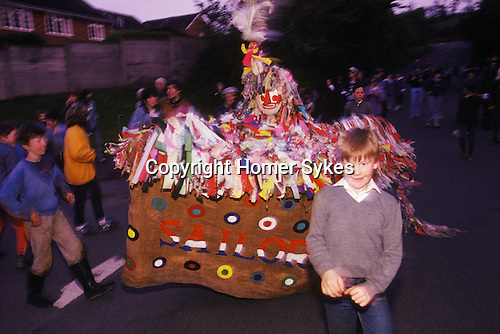 Minehead Hobby Horse Somerset. UK. May Day.