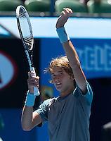 ALEXANDER ZVEREV (GER)<br /> <br /> Tennis - Australian Open - Grand Slam -  Melbourne Park -  2014 -  Melbourne - Australia  - 24th January 2013. <br /> <br /> &copy; AMN IMAGES, 1A.12B Victoria Road, Bellevue Hill, NSW 2023, Australia<br /> Tel - +61 433 754 488<br /> <br /> mike@tennisphotonet.com<br /> www.amnimages.com<br /> <br /> International Tennis Photo Agency - AMN Images