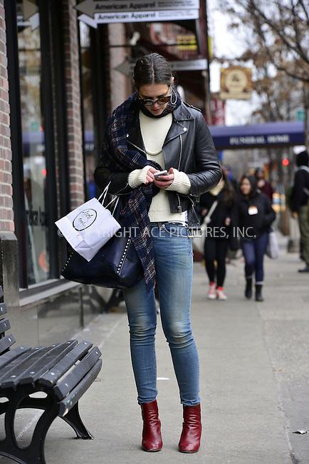 WWW.ACEPIXS.COM<br /> <br /> March 7 2014, New York City<br /> <br /> Actress Katie Holmes walks in Greenwich Village on March 7 2014 in New York City<br /> <br /> By Line: Curtis Means/ACE Pictures<br /> <br /> <br /> ACE Pictures, Inc.<br /> tel: 646 769 0430<br /> Email: info@acepixs.com<br /> www.acepixs.com