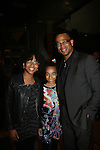 Stuart Scott and his daughters attend the premiere of Just Wright starring Queen Latifah, Phylicia Rashad on May 4, 2010 at the Ziegfield Theatre with the after party at The Empire Hotel, New York City, New York. (Photo by Sue Coflin/Max Photos)