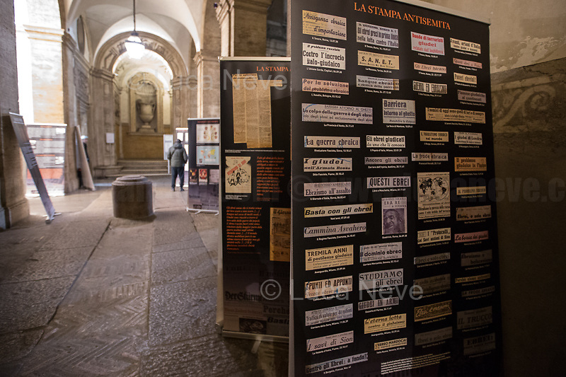 "Palazzo Mattei's exhibition ""La Razza Nemica"" (The enemy race).<br />