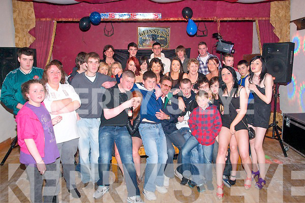 18thBirthday: Jason Nolan, Kilflynn, celebrating his 18th birthday with family and friends at Herbert'sBar, Kilflynn on Saturday night last.
