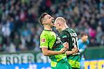 10.02.2019, Weser Stadion, Bremen, GER, 1.FBL, Werder Bremen vs FC Augsburg, <br /> <br /> DFL REGULATIONS PROHIBIT ANY USE OF PHOTOGRAPHS AS IMAGE SEQUENCES AND/OR QUASI-VIDEO.<br /> <br />  im Bild<br /> <br /> jubel Davy Klaassen (Werder Bremen #30)<br /> Kevin M&ouml;hwald / Moehwald (Werder Bremen #06)<br /> <br /> Foto &copy; nordphoto / Kokenge