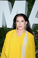 NEW YORK, NY - MAY 31: Marina Abramovic attends the 2018 Party in the Garden at Museum of Modern Art on May 31, 2018 in New York City.<br /> CAP/MPI122<br /> &copy;MPI122/Capital Pictures