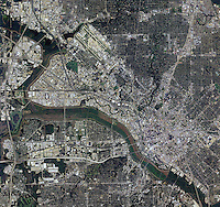 aerial photo map of Dallas, Texas
