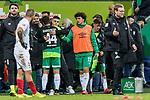 10.02.2019, Weserstadion, Bremen, GER, 1.FBL, Werder Bremen vs FC Augsburg<br /> <br /> DFL REGULATIONS PROHIBIT ANY USE OF PHOTOGRAPHS AS IMAGE SEQUENCES AND/OR QUASI-VIDEO.<br /> <br /> im Bild / picture shows<br /> Ersatzspieler Milos Veljkovic (Werder Bremen #13) bei Spielende,  <br /> <br /> Foto © nordphoto / Ewert