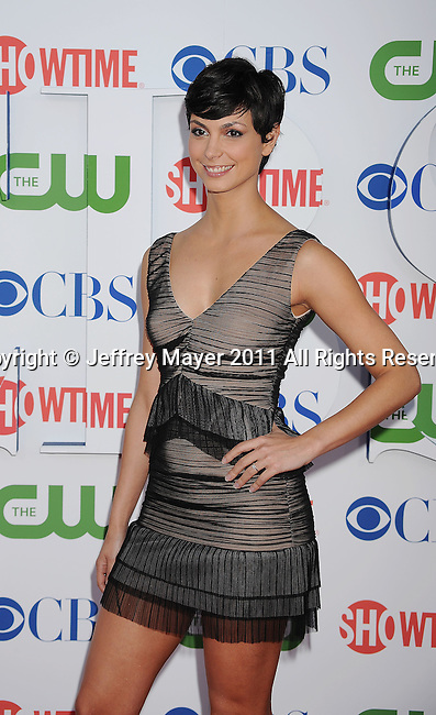BEVERLY HILLS, CA - AUGUST 03: Morena Baccarin arrives at the TCA Party for CBS, The CW and Showtime held at The Pagoda on August 3, 2011 in Beverly Hills, California.
