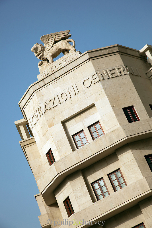 The Assicurazioni Generali Building, an Art Déco structure at Place d'Etoile (Nejmeh Square) in Beirut, Lebanon