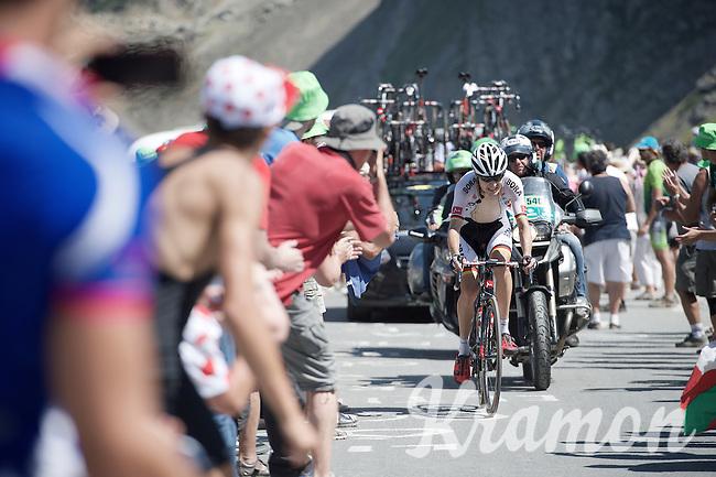 German National Champion Emanuel Buchmann (DEU/Bora-Argon18) up the Col du Tourmalet (HC/2115m/17km/7.3%)<br /> <br /> st11: Pau - Cauterets (188km)<br /> 2015 Tour de France