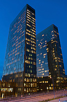 Luxembourg city: The European Court of Justice twin towers on the Kirchberg plateau