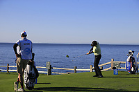 Bubba Watson (USA) tees off the 7th tee during Sunday's Final Round of the 2018 AT&amp;T Pebble Beach Pro-Am, held on Pebble Beach Golf Course, Monterey,  California, USA. 11th February 2018.<br /> Picture: Eoin Clarke | Golffile<br /> <br /> <br /> All photos usage must carry mandatory copyright credit (&copy; Golffile | Eoin Clarke)