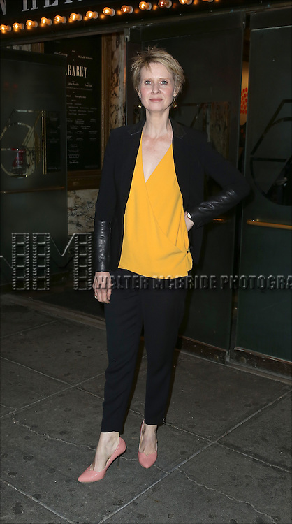 Cynthia Nixon attending the Broadway Opening Night Performance of 'Cabaret' at Studio 54 on April 24, 2014 in New York City.