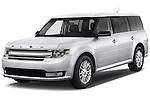Front three quarter view of a 2013 Ford Flex SEL