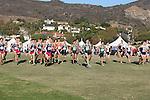 November 2, 2013; Malibu, CA, USA; Gonzaga, Pepperdine, San Francisco, and Brigham Young men's cross country teams during the WCC Cross Country Championship at Alumni Park.