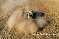 63801-13213 Harvesting soybeans in fall-aerial Marion Co. IL