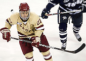 Quinn Smith (BC - 27) - The Boston College Eagles defeated the visiting University of New Hampshire Wildcats 4-3 on Friday, January 27, 2012, in the first game of a back-to-back home and home at Kelley Rink/Conte Forum in Chestnut Hill, Massachusetts.