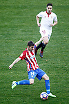Atletico de Madrid's Gabi Fernandez (d) and Sevilla FC's Samir Nasri during La Liga match. March 19,2017. (ALTERPHOTOS/Acero)