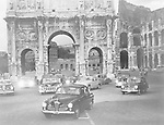 Cars and ancient monuments Rome Italy