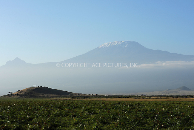 WWW.ACEPIXS.COM<br /> February 28, 2016 New York City<br /> <br /> Mount Kilimanjaro seen from Amboseli National Park on February 28, 2016 in Kenya.<br /> <br /> Credit: Kristin Callahan<br /> web: http://www.acepixs.com