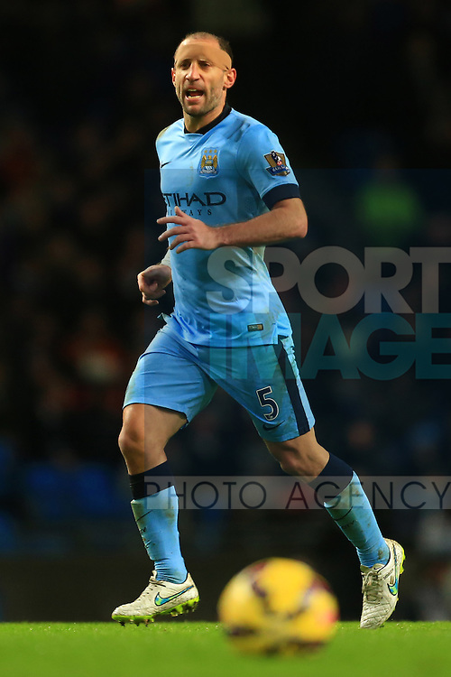Pablo Zabaleta of Manchester City - Manchester City vs. Sunderland - Barclay's Premier League - Etihad Stadium - Manchester - 28/12/2014 Pic Philip Oldham/Sportimage