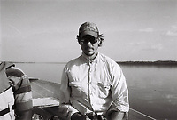 This Is Congo (2017) <br /> Director Daniel McCabe in field on Congo River. <br /> *Filmstill - Editorial Use Only*<br /> CAP/KFS<br /> Image supplied by Capital Pictures