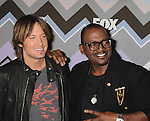 PASADENA, CA - JANUARY 08: Keith Urban and Randy Jackson. . arrive at the 2013 TCA Winter Press Tour - FOX All-Star Party at The Langham Huntington Hotel and Spa on January 8, 2013 in Pasadena, California.