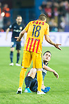 Atletico de Madrid's Koke and FC Barcelona Jordi Alba during Champions League 2015/2016 Quarter-Finals 2nd leg match. April 13, 2016. (ALTERPHOTOS/BorjaB.Hojas)