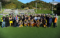 The Dalefield team and supporters after the Wellington premier men's hockey final between Dalefield and Hutt at The National Hockey Stadium, Wellington, New Zealand on Saturday, 11 August 2018. Photo: Dave Lintott / lintottphoto.co.nz