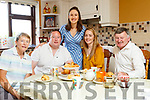 The Kerry Rose Sally-Ann Leahy pictured with her family at home in Causeway, from left: Anne Leahy, Sally-Ann's Aunt her brother Kevin, Kevin's wife Elaine and Her father Tim.