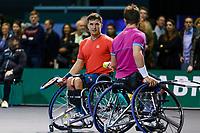 Rotterdam, The Netherlands, 14 Februari 2020, ABNAMRO World Tennis Tournament, Ahoy, <br /> Wheelchair Doubles: Gordon Reid (GBR) and Alfie Hewett (GBR).<br /> Photo: www.tennisimages.com
