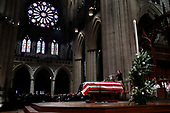 Former President George W. Bush speaks during the State Funeral for his father, former President George H.W. Bush, at the National Cathedral, Wednesday, Dec. 5, 2018, in Washington.<br /> Credit: Alex Brandon / Pool via CNP