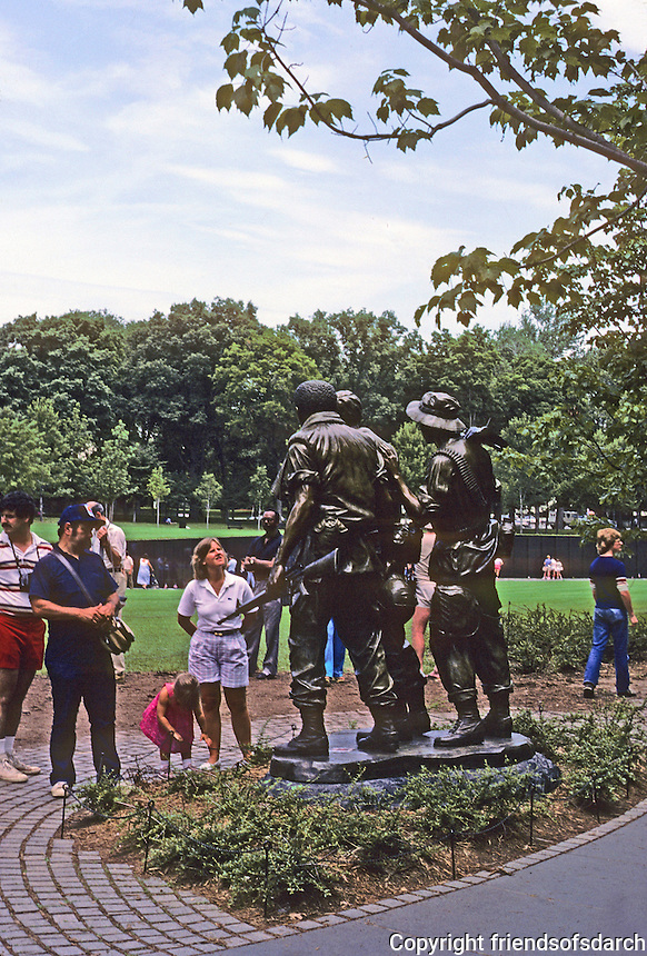 Washington D.C. : Vietnam Memorial. Sculpture by Frederick E. Hart. Photo '85.