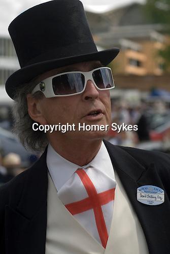 The hat designer David Shilling. Horse racing at Royal Ascot, Berkshire, England. 2006.