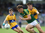 David Clifford of Kerry in action against Jayme O'Sullivan of Clare during their Minor Munster final at Killarney.  Photograph by John Kelly.