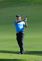 Marcus Fraser (AUS) on the 1st during Round 1 of the ISPS HANDA Perth International at the Lake Karrinyup Country Club on Thursday 23rd October 2014.<br /> Picture:  Thos Caffrey / www.golffile.ie
