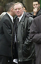 15/1/04          Copyright Pic : James Stewart.File Name : jspa15_doyle_funeral.DENNIS TAYLOR  AT THE FUNERAL OF IRENE DOYLE, THE WIFE OF110SPORT BOSS IAIN DOYLE, WHO DIED OF WHILST IN SPAIN.... DOYLE'S 110SPORT LTD MANAGES SOME OF THE WORLD'S TOP SNOOKER STARS INCLUDING SCOTLAND'S STEPHEN HENDRY, WALES' MARK WILLIAMS AND IRELAND'S KEN DOHERTY....(see copy from George Mair / Tim Bugler).....Payment should be made to :-.James Stewart Photo Agency, 19 Carronlea Drive, Falkirk. FK2 8DN      Vat Reg No. 607 6932 25.Office     : +44 (0)1324 570906     .Mobile  : +44 (0)7721 416997.Fax         :  +44 (0)1324 570906.E-mail  :  jim@jspa.co.uk.If you require further information then contact Jim Stewart on any of the numbers above.........