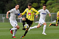 Football - Phoenix v Auckland City at Martin Luckie Park, Berhampore, Wellington, New Zealand on Saturday 30 September 2017.<br /> Photo by Masanori Udagawa. <br /> www.photowellington.photoshelter.com