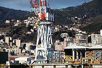 Genova: il cantiere navale di Fincantieri a Sestri Ponente..