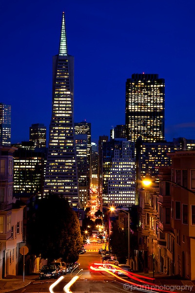 San Francisco's Transamerica building at night
